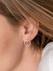 Halo Earring Jackets ethical & sustainable jewelry made from recycled sterling silver#metal_sterling-silver