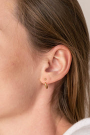 Hoop Earring Jackets ethical & sustainable jewelry made from recycled gold vermeil#metal_gold-vermeil
