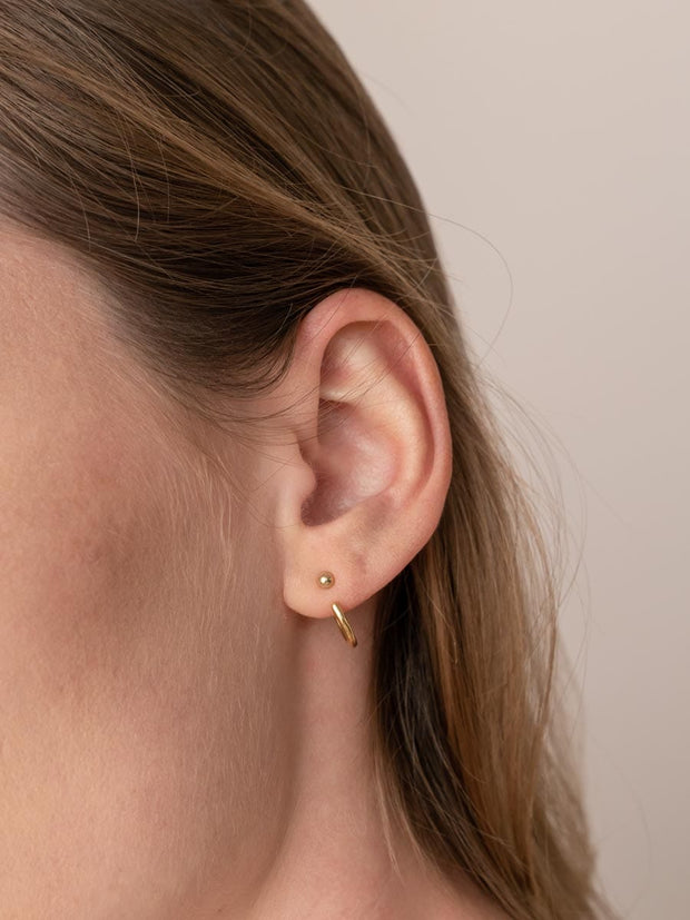 Hoop Earring Jackets ethical & sustainable jewelry made from recycled 14k yellow gold