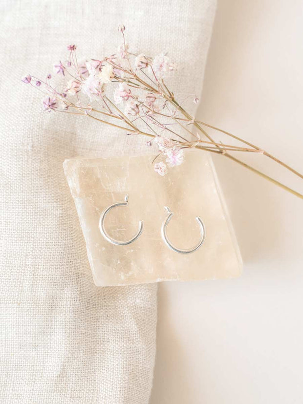 Hoop Earring Jackets ethical & sustainable jewelry made from recycled sterling silver