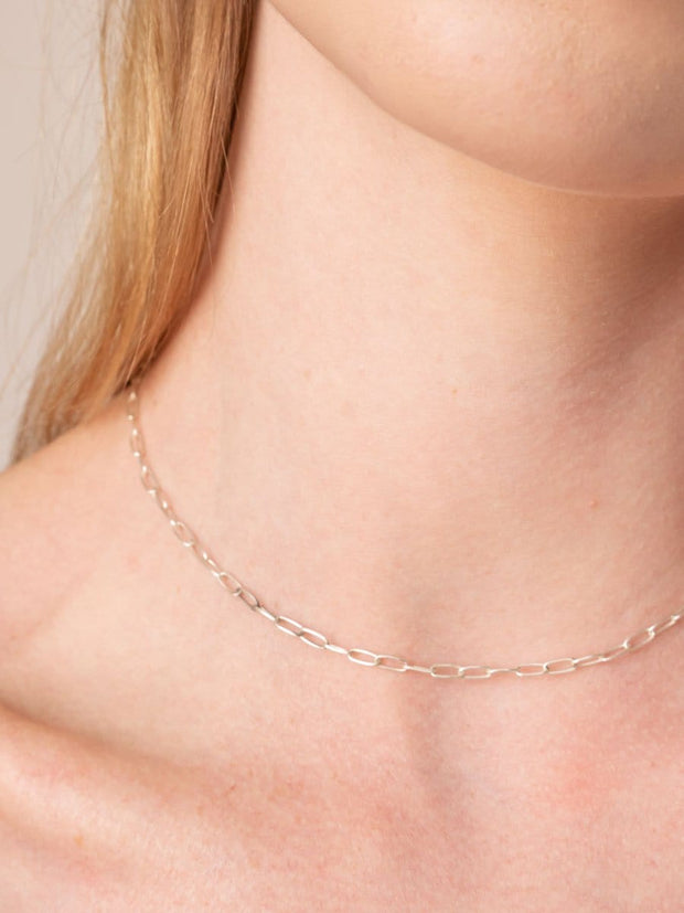 Paperclip Chain Necklace ethical & sustainable jewelry made from recycled sterling silver