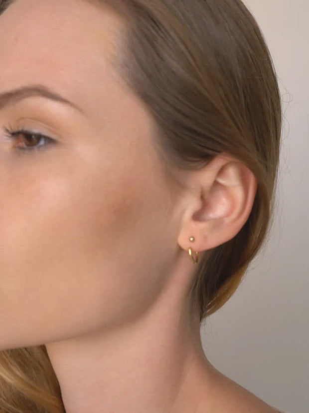 Hoop Earring Jackets ethical & sustainable jewelry made from recycled gold vermeil