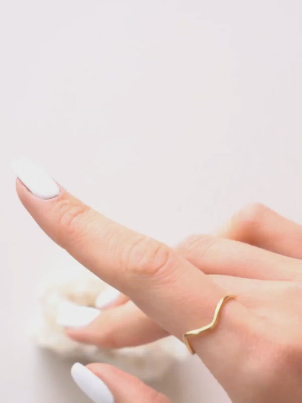 Zig Zag Ring ethical & sustainable jewelry made from recycled 14k yellow gold