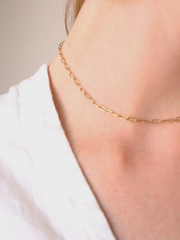 Paperclip Chain Necklace ethical & sustainable jewelry made from recycled gold vermeil