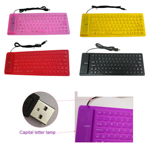 Roll-up Waterproof Silicone Keyboard