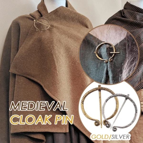 Medieval Cloak Viking Style Pin