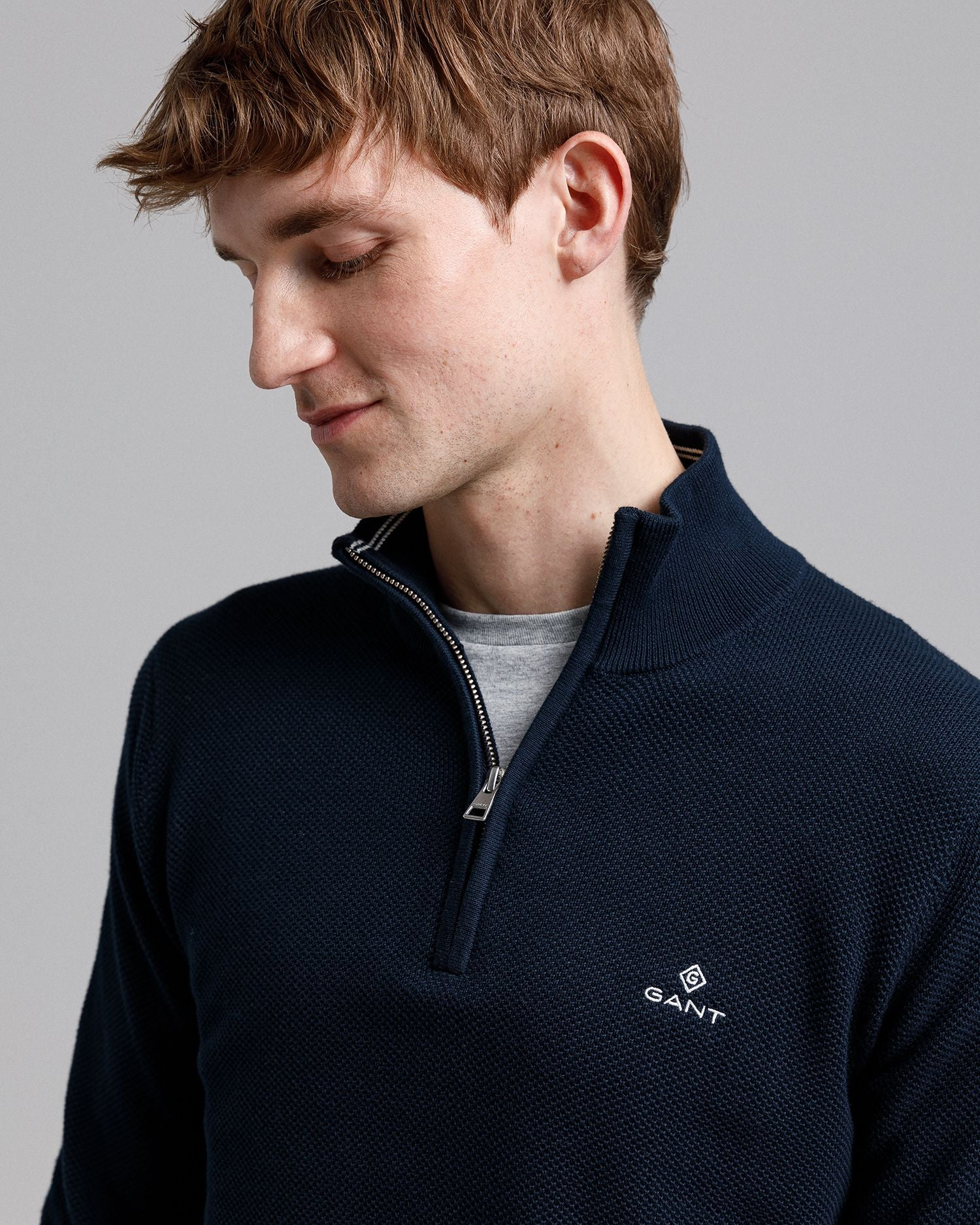 GANT COTTON HALF ZIP JUMPER