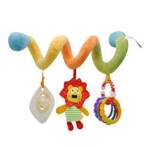 Kids Toys Hanging Spiral Rattle Stroller Cute Animals Crib Mobile Bed Baby Toys 0-12 Months Newborn Educational Toy for Children