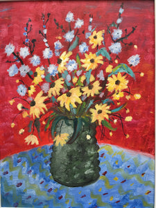 Red and Yellow Flower Painting