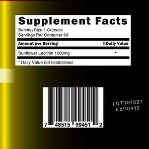 Pure Sunflower Lecithin Sexual Support - 1000mg