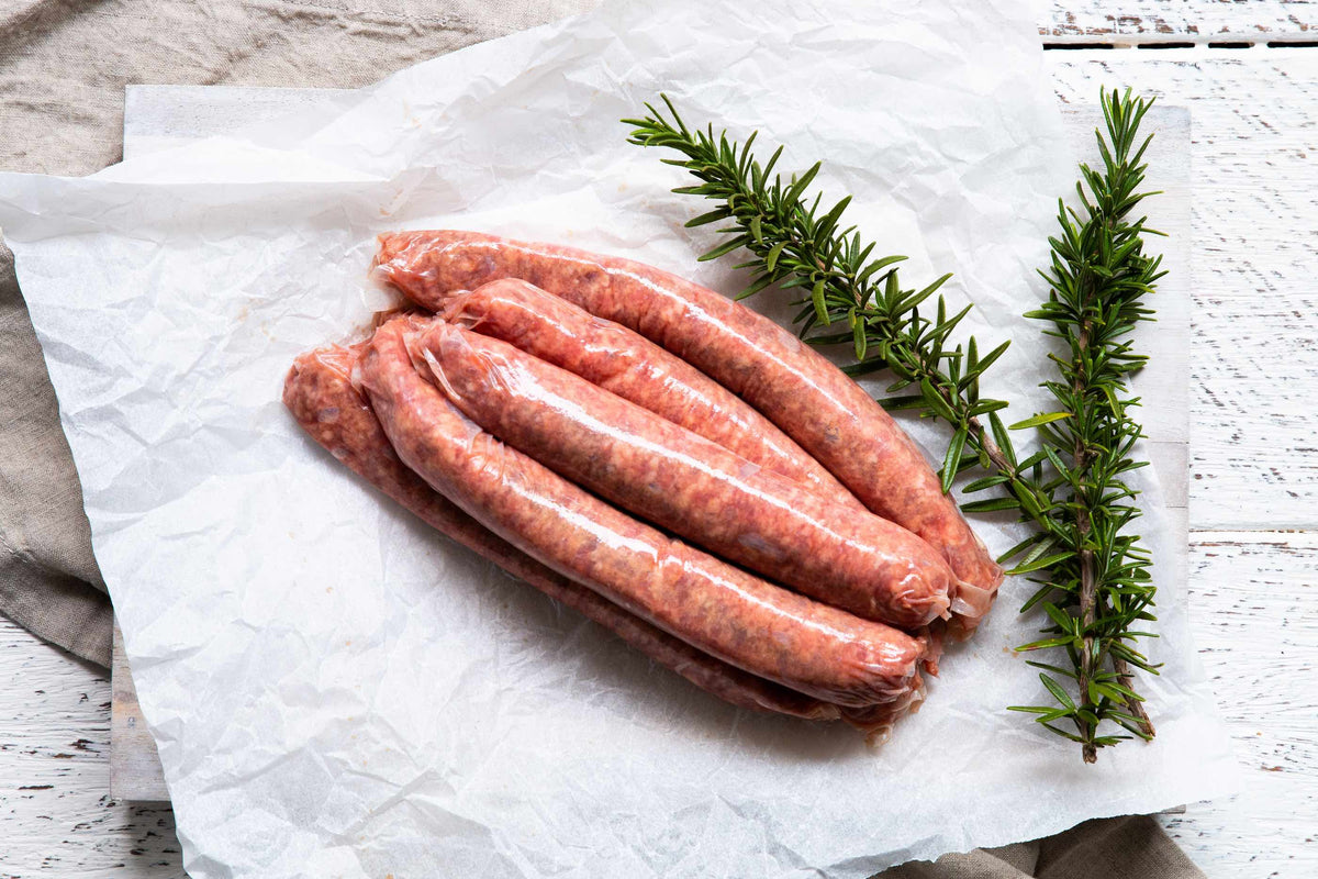 Certified Organic BBQ Beef Sausages