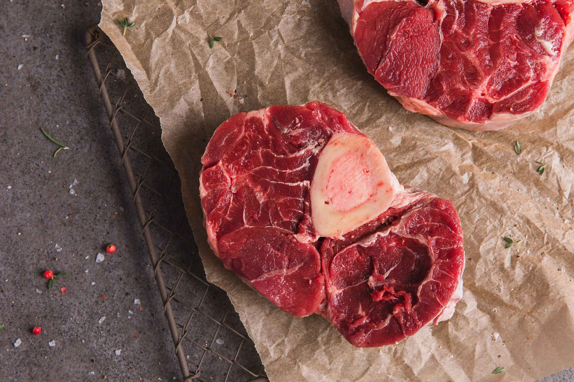 Certified organic beef osso buco