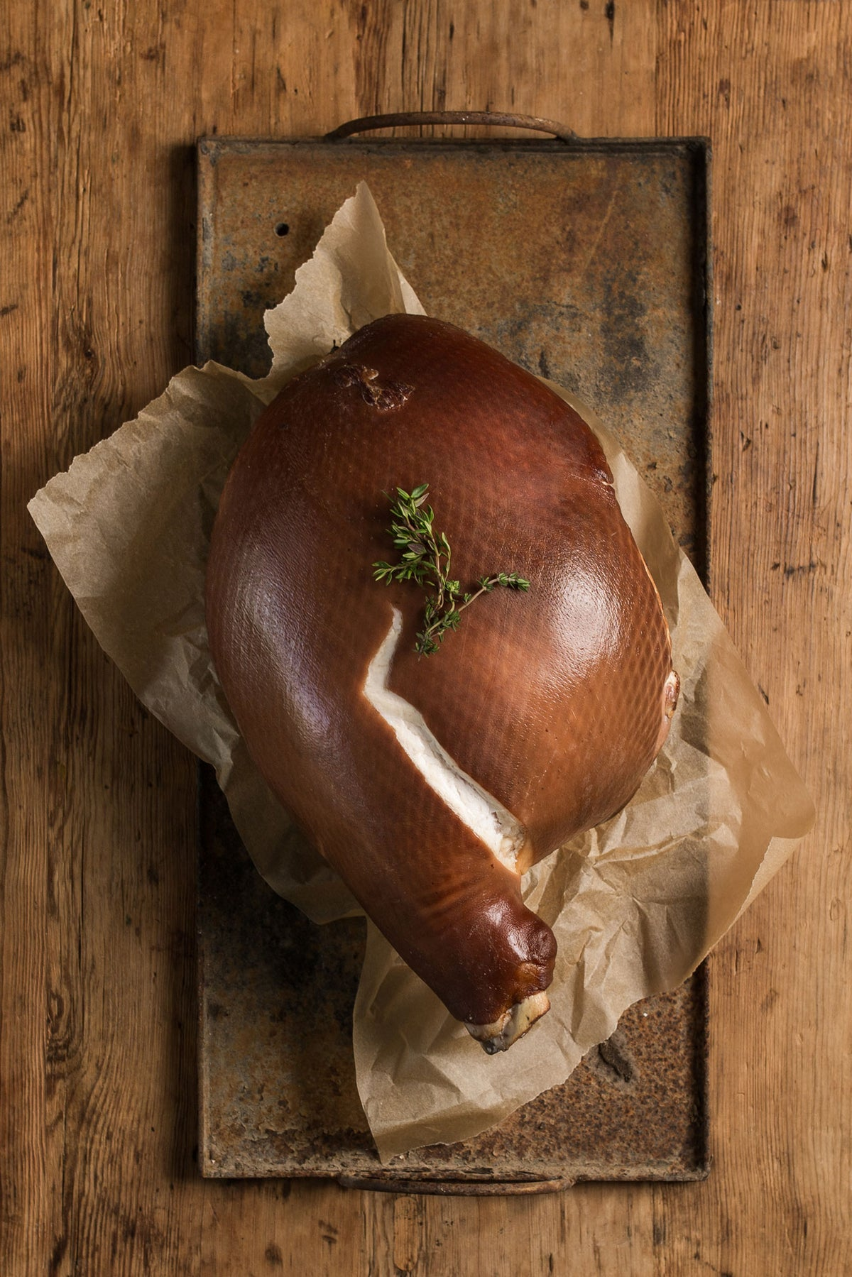 Free-Range and Nitrite-Free Maple Smoked Leg Ham on the Bone