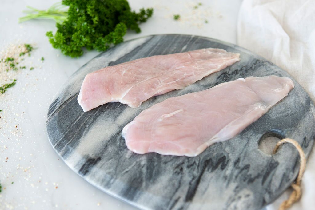 Certified Organic Chicken Schnitzel cut