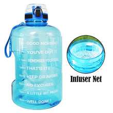 Load image into Gallery viewer, BuildLife 1.3L 2.2L 3.78L Water Bottle With Locking Flip-Flop Lid Sport Gym Bottles Fitness Sports BPA Free Large Capacity Jug