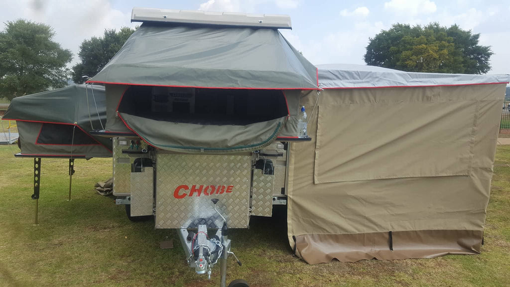 Chobe Tec Caravan sleeps 4, 1672lbs USD Pricing - Off Grid Trek