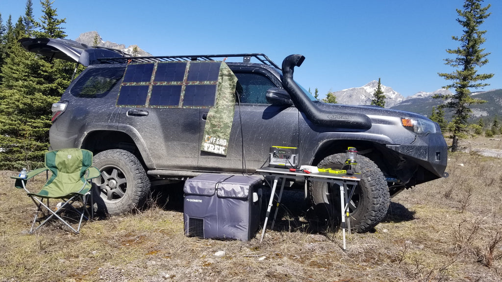120W Solar Blanket 23.5% Efficiency Rating 7.9lbs No US Sales Tax! - Off Grid Trek