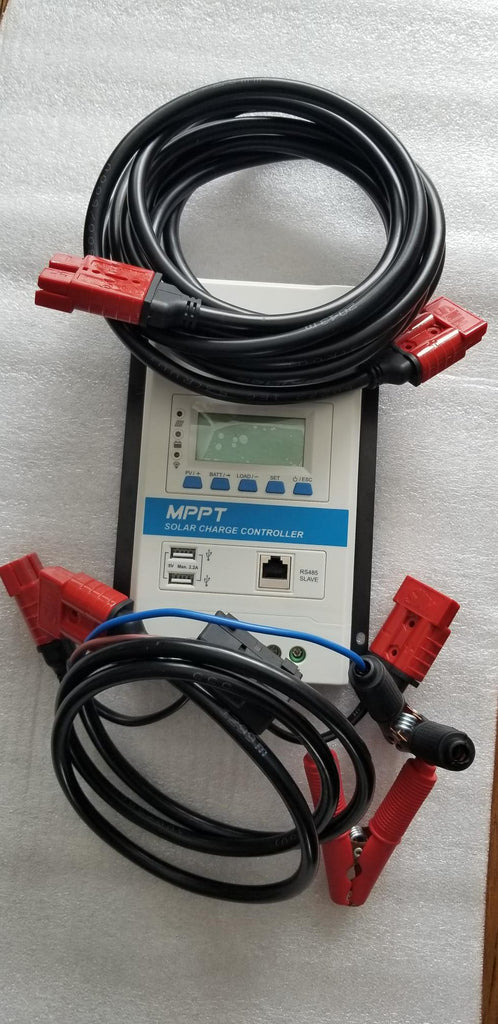 Battery charging kit, 20 Amp MPPT 12 or 24V Solar charge controller & Cables, No US Sales Tax!No US Sales Tax! - Off Grid Trek