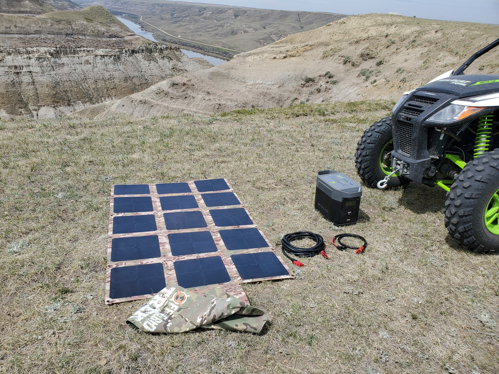 200W Solar Blanket Bundle with Ecoflow Delta 1300 Solar Generator NO US SALES TAX! - Off Grid Trek
