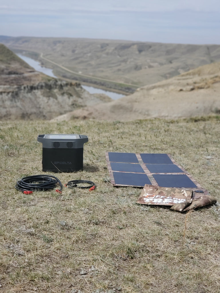 PACKAGE: 120W Solar Blanket Bundle with Ecoflow Delta 1300 Solar Generator, NO US SALES TAX! - Off Grid Trek
