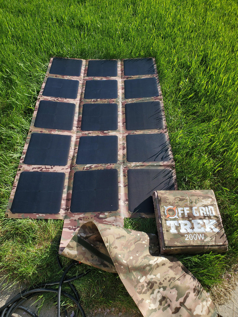 PACKAGE: 200W Solar Blanket Bundle with Ecoflow Delta 1300 Solar Generator NO US SALES TAX! - Off Grid Trek