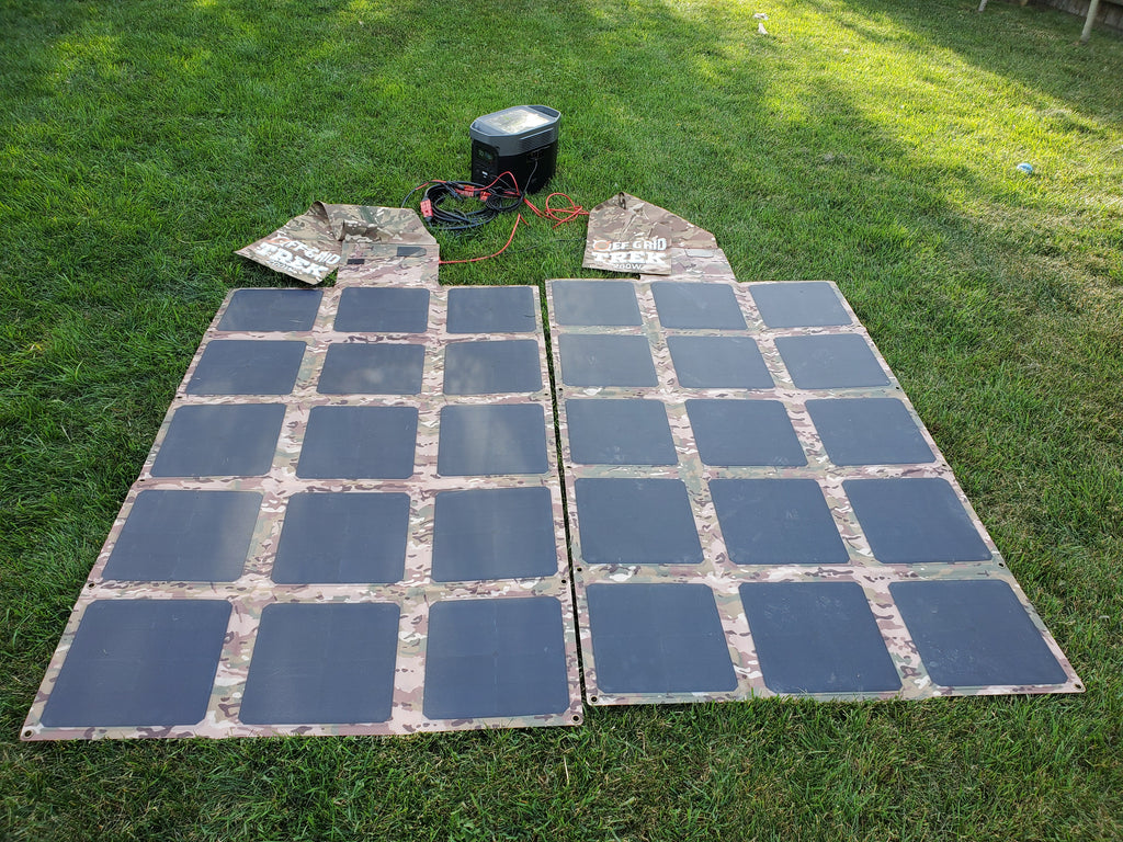 400W Solar Blanket Bundle with Ecoflow Delta 1300 Solar Generator NO US SALES TAX! - Off Grid Trek