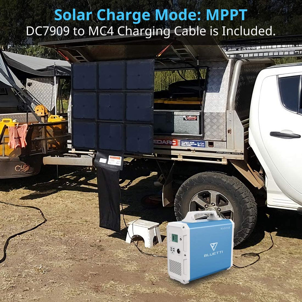 Ultimate Solar Blanket Preparedness bundle including 428.5W Solar Blankets, Bluetti EB240 Portable Solar Generator 2400Wh, cables, Vehicle/Trailer Charging Kit  & Faraday Bag, SAVE $449.00 & NO US SALES TAX! - Off Grid Trek