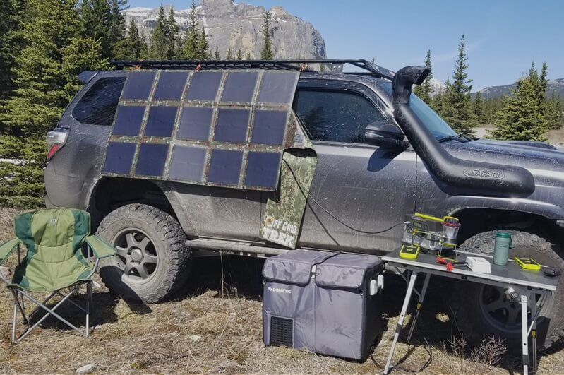 215W Solar Blanket Bug Out Package, to charge your 12V/24V/Lithium VEHICLE OR TRAILER BATTERIES + NO US SALES TAX! - Off Grid Trek