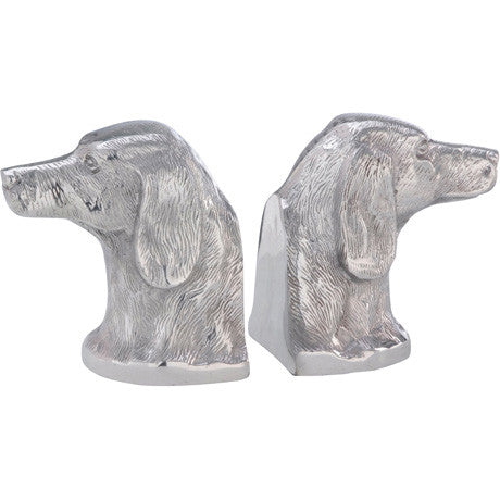 Bookends Aluminium Dog