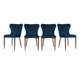 Amber Chair, Deep Blue, Set of 4