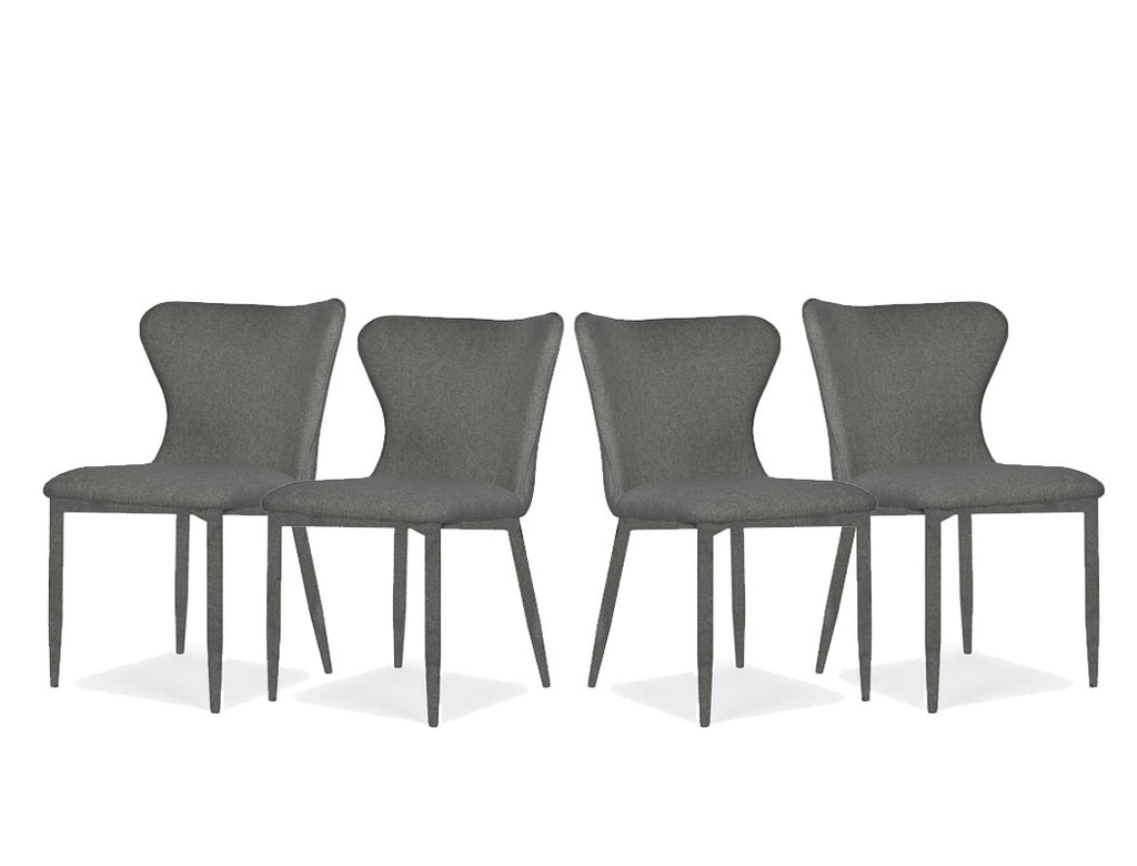 Amber Chair, Liquorice, Set of 4