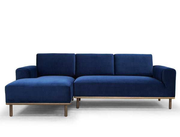 Anders L-Shape Sofa (LHF), Royal Blue