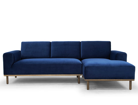 Anders L-Shape Sofa (RHF), Royal Blue