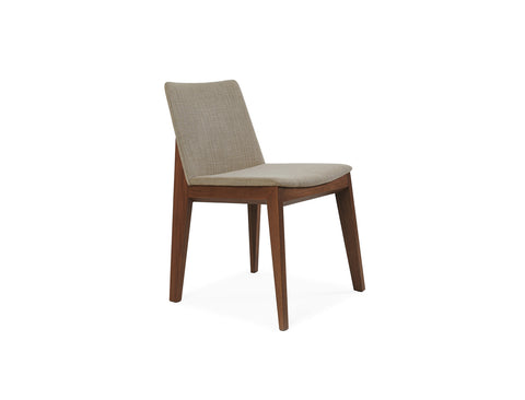 Arianna Chair, Light Brown  - Solid Black Walnut