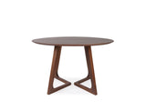 Aster Round Dining Table (120cm) - Solid Black Walnut