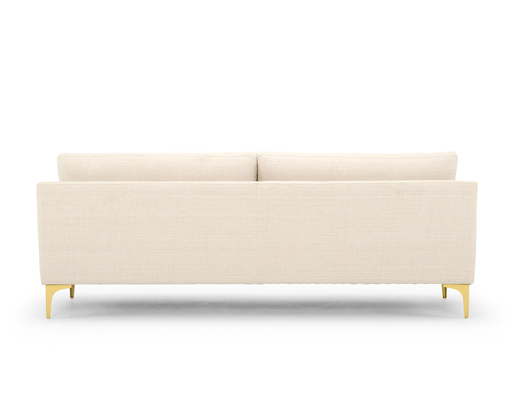 Aurora 3 Seater Sofa, White Quartz