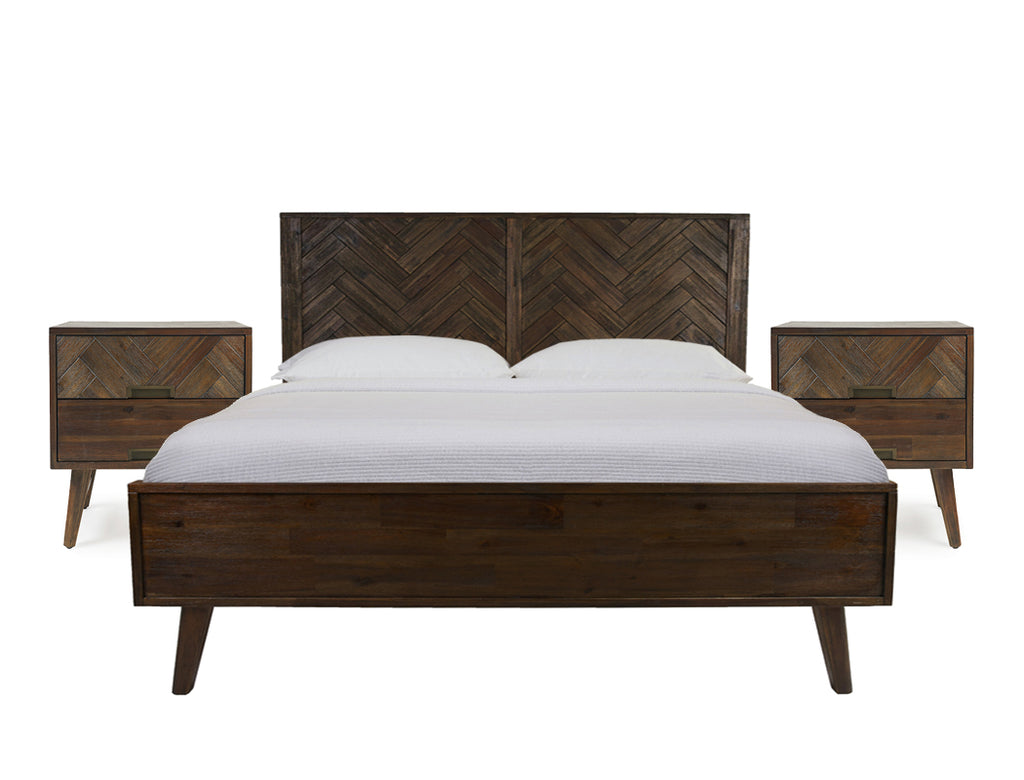 Austin Bed Frame, King with 2 Bedside Tables