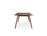 Axel Dining Table (160cm) with 4 Amber Chairs, Liquorice