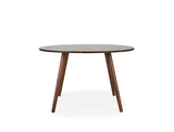 Axel Round Dining Table (120cm) - Solid Black Walnut