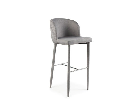 [CLEARANCE] Isabel Bar Stool, Light Grey