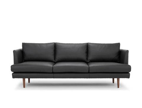 Beckett Leather Sofa, Black