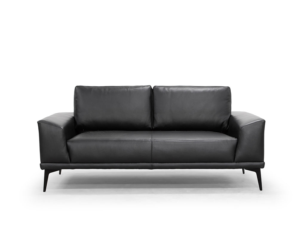 Blake Leather Sofa, Black
