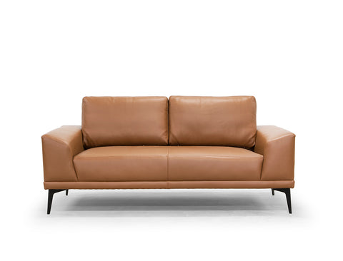 Blake Leather Sofa, Caramel