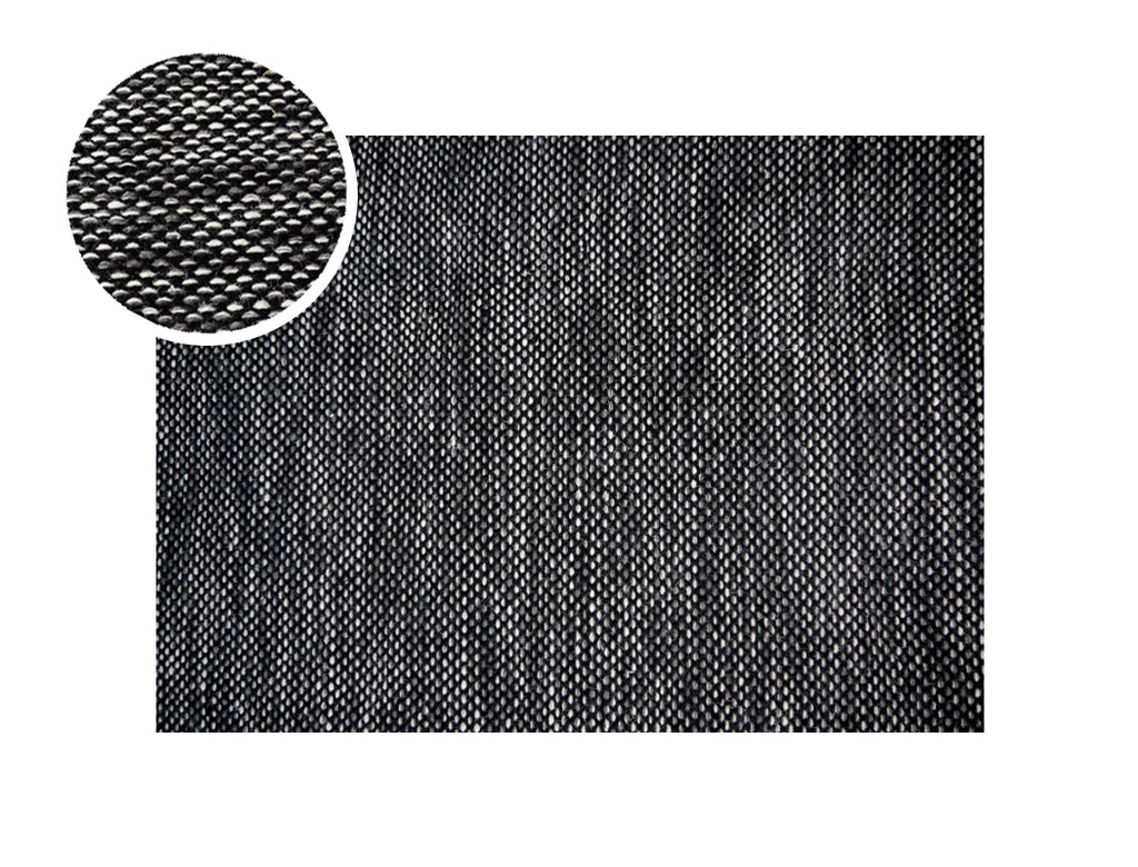 Braxton Rug, Charcoal (Large, Reversible)