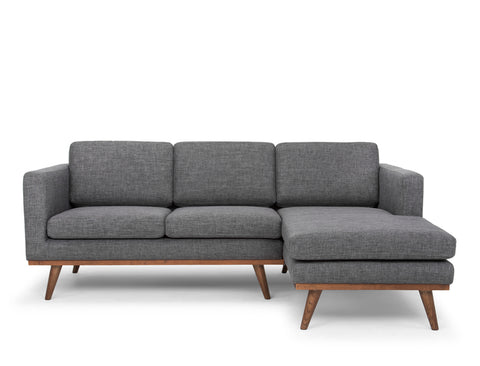 Brooklyn L-Shape Sofa (RHF), Granite