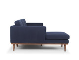 Brooklyn L-Shape Sofa (LHF), Navy Blue