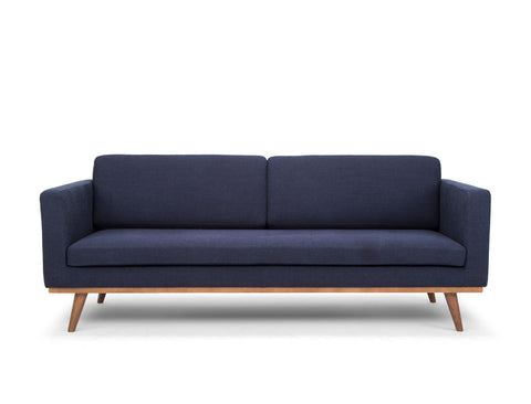 [CLEARANCE] Brooklyn 3 Seater Sofa, Navy Blue