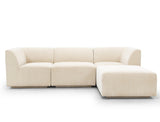 Emma L-Shape Sofa, Almond