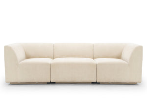 Emma 3 Seater Sofa, Almond