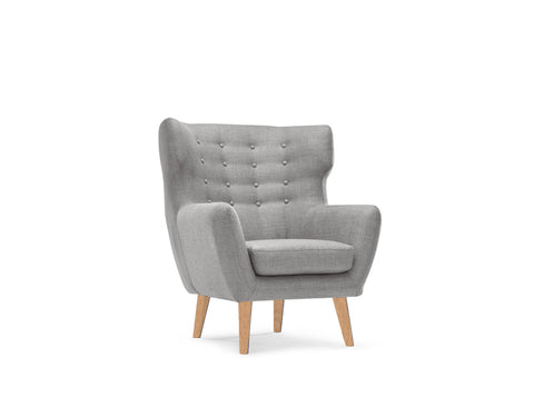 [CLEARANCE] Ethan Arm Chair, Light Grey